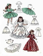 Toni Shirley Temple Judy Garland Doll Clothes PATTERN 6759 for 19 inch dolls