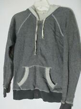 Caslon Long Sleeve gray hoody zipper cotton Jacket size S