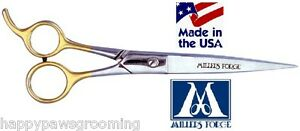 """MILLERS FORGE 88 Filipino Curved SHEAR 8 1/4""""Scissor w/Case Pet Dog Cat Grooming"""