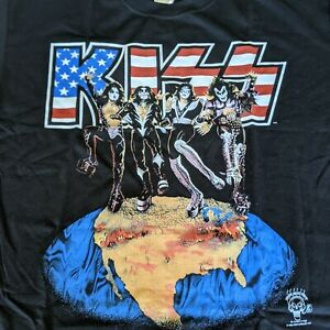 Vintage Rock & Roll KISS DESTROYER T-Shirt, XL 1996 Alive Worldwide Tour NEW!