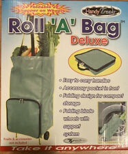 "Handy Trends Deluxe ""Roll-A-Bag"" foldable 28"" shopper on wheels -"