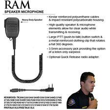 Earphone Connection RAM QR Speaker Mic for Kenwood NX TK Radios (See List)