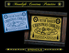 Primitive Stencil~FRESH BAKED CHRISTMAS COOKIES~Vintage Looking Victorian Style
