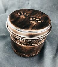 Iron Copper Pet Cremation Urn Cylinder Pet Ashes