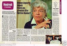 Coupure de presse Clipping 1983 (2 pages) Simone Signoret