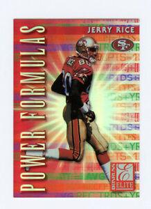 Jerry Rice 1999 99 Donruss Elite Power Formulas Insert Card 3292/3500 SF 49ers