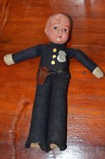 9 inch Celluloid & Cloth Fabric Special Police Doll Made in Japan Vintage 1950's