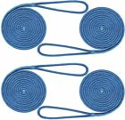 4-pack 12 Inch 20 Ft Double Braid Nylon Boat Dock Line Mooring Rope Anchor Line