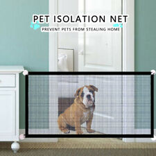 Pets Dog Cat Baby Safety Gate Mesh Fence Portable Guard Net Stairs Doors Us New