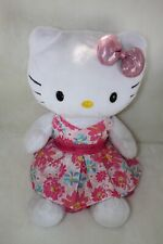 BUILD A BEAR HELLO KITTY DOLL GIGGLES With Pink Satin Bow GUC Flower Sundress