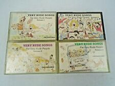 Job Lot of Very Rude Songs for Rude People Audio Cassettes x 4 Volumes ADULTS