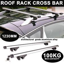123cm Universal Aluminium Car Roof Bars Rack Locking Aero Cross Rails