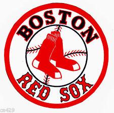 """3"""" BOSTON RED SOX BASEBALL SPORTS BALL  PREPASTED WALL BORDER CUT OUT"""