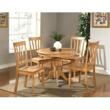 Wooden Imports Furniture An3-Oak-W 3 Pc Antique Round Kitchen 36 in. Table an.