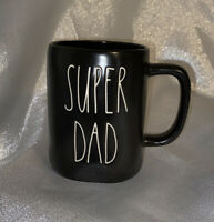 "Rae Dunn Black ""SUPER DAD"" LL Coffee Mug Brand New 2020"