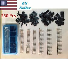 250Pcs 2.54mm Dupont Jumper Wire Cable Housing Male/Female Pin Connector Kit
