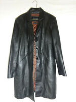 Women WILSONS Pelle Leather Jacket Black Thinsulate Ultra Zip Out Liner XL coat
