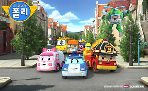 4 Pcs/Set Robocar Poli Transformation Robot Car Model South Korea Thomas Toys