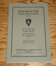 1935 Plymouth Owners Operators Manual Instruction Book Third Edition 35