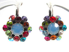 SoHo® Ohrhänger geschliffene Kristalle blue opal multicolor strass Ohrringe