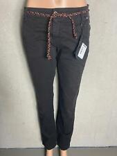 PLEASE -  Jeans Chino P0AY schwarz mit Gürtel -  NEU -Gr XXS 32 3012m