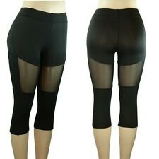 New Women's Legging Active Wear High Waist Fitness Yoga Running Gym Pants 606 BK