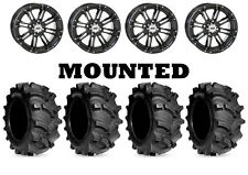 Kit 4 Kenda Executioner Tires 27x10-12/27x12-12 on STI HD3 Gloss Black IRS