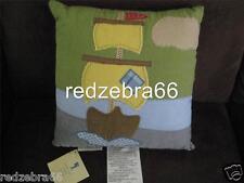"""Pottery Barn Kids Treasure Cove Pirate Ship Decorative Pillow 12"""" Sq"""