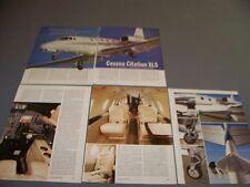VINTAGE..CESSNA CITATION XLS..HISTORY/DETAILS/PHOTOS/SPECS..RARE! (440H)