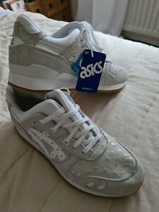 ASICS GEL-Lyte III trainers suede leather grey white lace up size 10 brand new