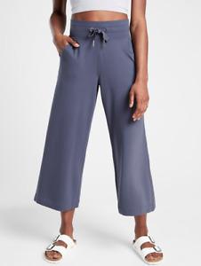 ATHLETA Balance Wide Crop XXS in Medieval Violet   Soft Wide-Leg Yoga Pants NWT