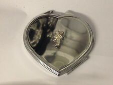 Windmill TG310 Fine Pewter on Heart Shape Compact Mirror