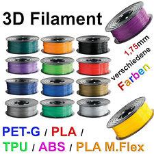 3D Impresora Filamento 1kg Rollo Pla TPU ABS Petg Mflex 1,75mm Bobina Sample