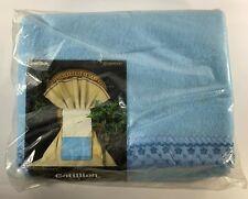 "Vintage Beacon Gotillion Blue Acrylic Blanket Embroidered Silky Trim 72"" x 90"""