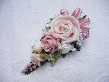 Wedding flower buttonhole pink & ivory  rose.... PIN ON