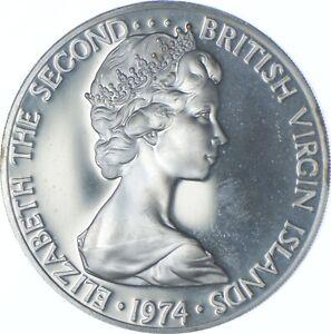 Better Date - 1974 British Virgin Islands 1 Dollar - SILVER *539