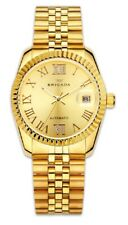 Brigada Automatic Crystals Roman Numerals 40mm Gold Dial Men's Watch BJD8004G SD