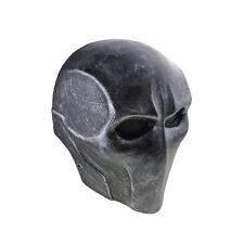 Black Silver Fabric Resin Skull Full Face Protection Mask For Paintball Airsoft