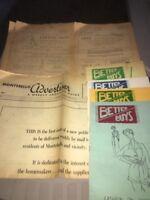Vintage Montebello California Advertisements 8 Pcs 1950's Paper (3 # 1 Issues )