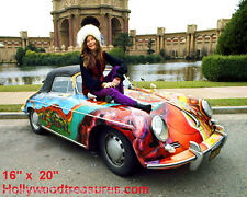 "Janis Joplin~Color~Car~Poster~1 6"" x 20"" Photo"