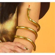 New Gold Metal Snake Armband Bracelet - Cleopatra Egyptian Fancy Dress Costume