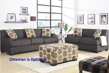 Sectional set of Loveseat & Sofa in Lenin Ash black color living room furniture