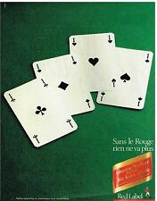 Publicité Advertising 1984 Scotch Whisky Red Label Johnnie Walker