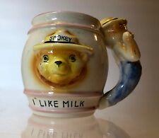 Vintage (1950s-60s) SMOKEY THE BEAR~MUG~3D~1pc~CHILD'S~CERAMIC I LIKE MILK