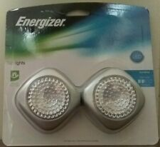 """LED Tap Lights 2 count pack Touch Light 2.5""""sq  Gray - Energizer NIP Soft White"""