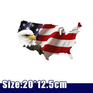 USA Bald Eagle American Flag Sticker Car Truck Laptop Window Decal Bumper