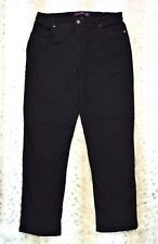 Gloria Vanderbilt Women's Denim Jeans Black Straight Leg Size 14 Inventory I-03