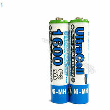 1 x AAA 1600mAh NIMH 1.2V Volt Rechargeable Battery HR03 LR03 3A Ultracell Blue