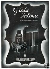 PUBBLICITA' 1942 GIOIA INTIMA BORSARI PARMA PROFUMO COLONIA CIPRIA COSMETICI