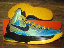 2013 Nike KD V N7 SZ 13 Kevin Durant Dark Turquoise Yellow 5 Elite 599294-447